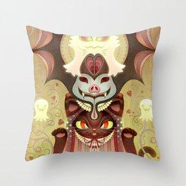 Trick-or-Treat Totem Throw Pillow
