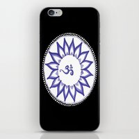 ohm iPhone & iPod Skins featuring Ohm Flower by Michelle_