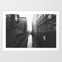 manchester Art Prints featuring Manchester by johnshepherdPhotography
