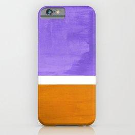 Minimalist Abstract Rothko Mid Century Modern Color Field Lavender Yellow Ochre iPhone Case