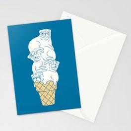 Pug Ice Cream Stationery Cards