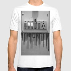 Switch On skyscrapers Mens Fitted Tee MEDIUM White