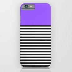 STRIPE COLORBLOCK {PURPLE} Slim Case iPhone 6