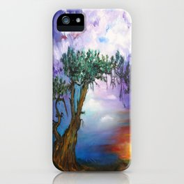 The Tree in Sunset iPhone Case