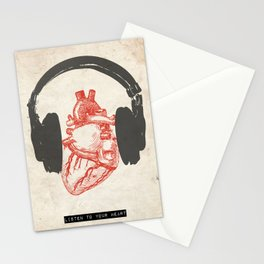 Listen to Your Heart Stationery Cards