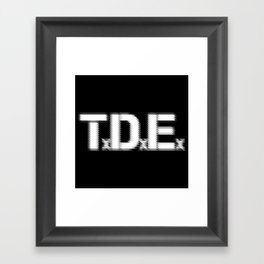 TDE - Top Dawg Entertainment - Kendrick Lamar Framed Art Print