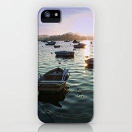 Sunrise in Baiona Galicia iPhone Case