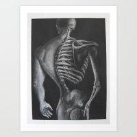 skeletor Art Prints featuring Skeletor  by Robyn Ami Medlock