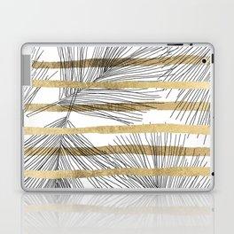 Geometrical black faux gold hand drawn palm tree Laptop & iPad Skin