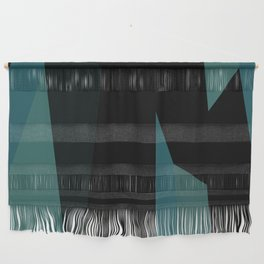teal and black abstract Wall Hanging