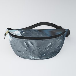 Metallic shine on a yin yang type fractal form Fanny Pack