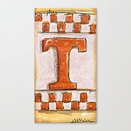 Tennessee Checkerboard Canvas Print