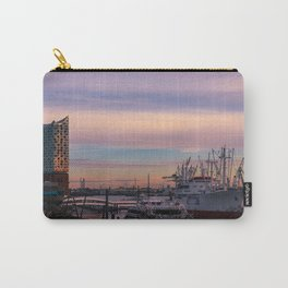 Sunset in the port of Hamburg Carry-All Pouch