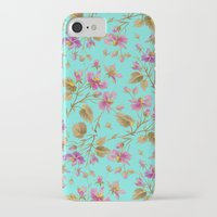 aelwen iPhone & iPod Cases featuring beach roses mint by Ariadne