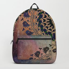 In the Air Mandala - Birds and Butterflies Backpack