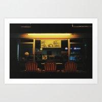 Night Lobsters. Art Print