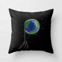 bubble Throw Pillows featuring Bubble by barmalisiRTB