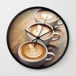 It's Cappuchino Time! Wall Clock
