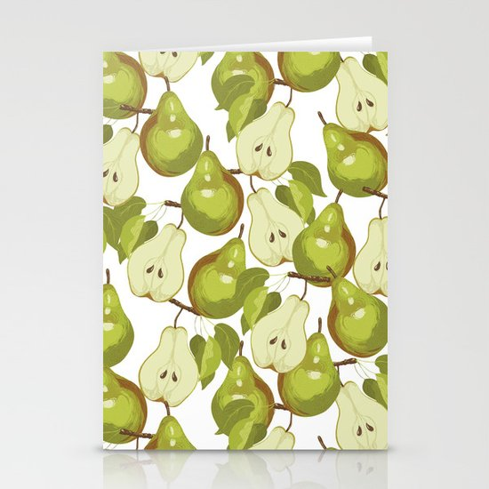 Pears Pattern Stationery Cards