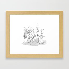 Birth of Seeds Framed Art Print