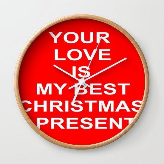 Christmas Red Wall Clock