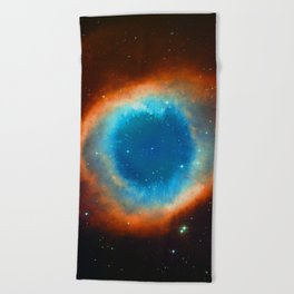 Eye Of God - Helix Nebula Beach Towel