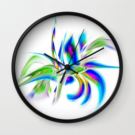 Abstract perfection - Flower Magical Wall Clock