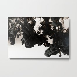 Black Smoke Metal Print