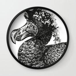 Mrs Dodo   Black & White Wall Clock