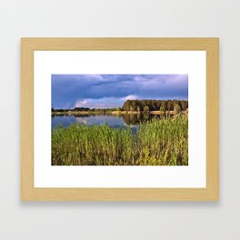 After Rain Poetry Framed Art Print