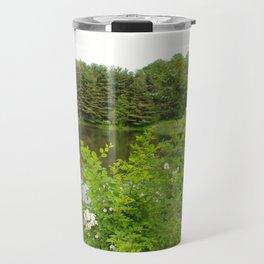 Wild Flowers on the lake Travel Mug
