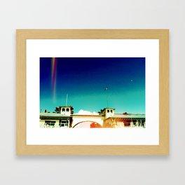 Crystal Pier Framed Art Print