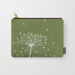 Dandelion Seeds Green Carry-All Pouch