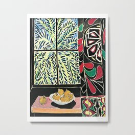 Matisse - Interior with egyptian curtain Metal Print