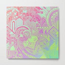 Hologram Wave Metal Print