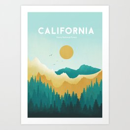 California sierra forest Art Print