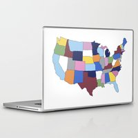 usa Laptop & iPad Skins featuring USA by Project M