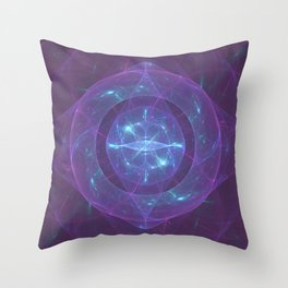 Blue Eye of the Purple Dragon Throw Pillow