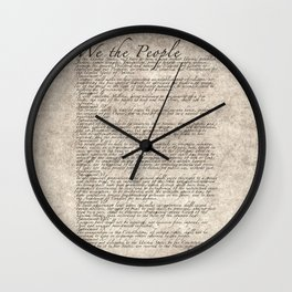 US Constitution - United States Bill of Rights Wall Clock