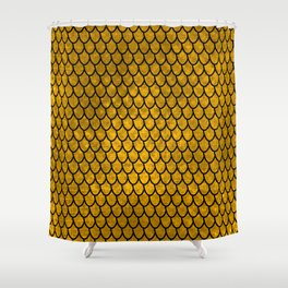 Mermaid Scales - Gold Shower Curtain