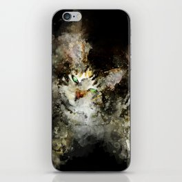perfect evil cat iPhone Skin
