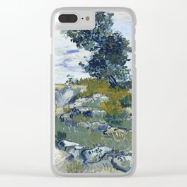 Vincent Van Gogh - Rocks with Oak Tree Clear iPhone Case