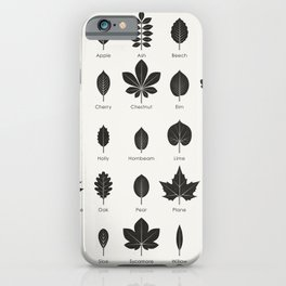 European Tree Leaves iPhone Case