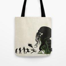 Lovecraftian Darwinism Tote Bag