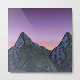 Night Mountains No. 62 Metal Print