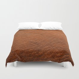 Brown Leather Duvet Cover