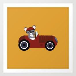 Koala Racer Art Print