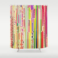 acid Shower Curtains featuring Citric Acid by Lynsey Ledray