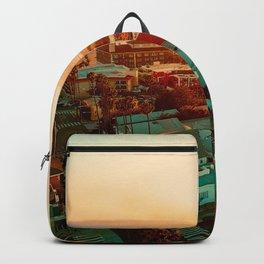 Santa Monica beach evening light Backpack