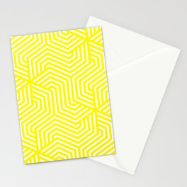 Café au lait - yellow - Minimal Vector Seamless Pattern Stationery Cards